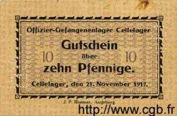 10 Pfennig ALLEMAGNE Cellelager 1917 K.27 TTB