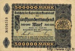 500000 Mark ALLEMAGNE  1923 Bay.217a TB