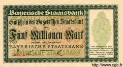 5 Millionen Mark ALLEMAGNE  1923 Bay.220a pr.NEUF