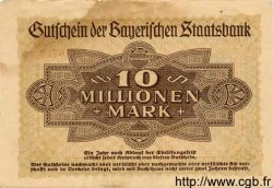 10 Millionen Mark ALLEMAGNE  1923 Bay.221a TB+