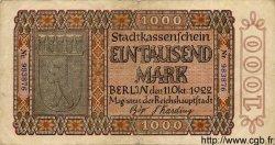 1000 Mark GERMANY Berlin 1922 K.44 F