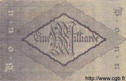 1 Milliarde Mark ALLEMAGNE  1923 K.521m SUP