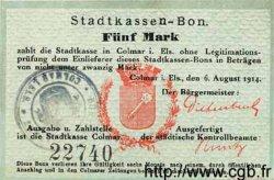 5 Mark ALLEMAGNE Colmar 1914 K.65 SUP
