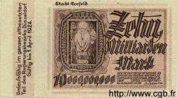 10 Milliarden Mark ALLEMAGNE Crefeld 1923 K.912aa SUP+