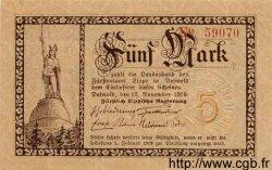 5 Mark ALLEMAGNE Detmold 1918 Lip.3a pr.NEUF