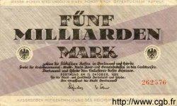 5 Milliarden Mark ALLEMAGNE  1923 K.106lo TTB+