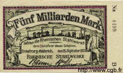 5 Milliarden Mark ALLEMAGNE  1923 K.1205dd pr.SUP