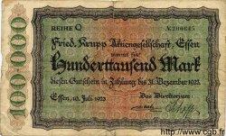 100000 Mark ALLEMAGNE  1923 K.1429c TB