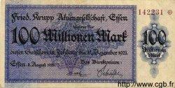 100 Millionen Mark ALLEMAGNE  1923 K.1429k TTB+