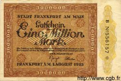 1 Million Mark ALLEMAGNE Francfort 1923 K.1522c TTB