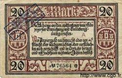 20 Mark ALLEMAGNE Freiburg 1918 K.147c TB+