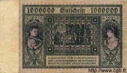 1 Million Mark ALLEMAGNE Hambourg 1923 K.2106i TTB