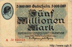 5 Millionen Mark ALLEMAGNE  1923 K.2106i TB+