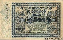 10 Millionen Mark ALLEMAGNE Hambourg 1923 K.2106k TTB+