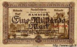 1 Milliarde Mark ALLEMAGNE  1923 Ham.25b TTB