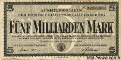 5 Milliarden Mark ALLEMAGNE  1923 Ham.26a B+