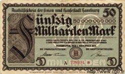 50 Milliarden Mark ALLEMAGNE  1923 Ham.32a TB
