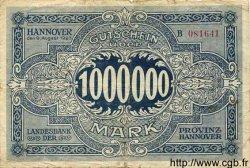 1 Million Mark ALLEMAGNE Hannovre 1923 Han.4b B+