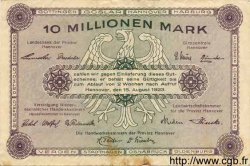 10 Millionen Mark ALLEMAGNE  1923 Han.12d TB+