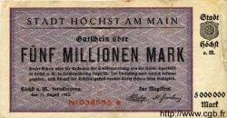 5 Millionen Mark ALLEMAGNE  1923 K.2392c TB+