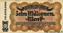 10 Millionen Mark ALLEMAGNE Hochst 1923 K.2392c TB+