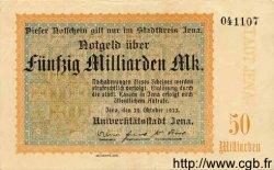 50 Milliarden Mark ALLEMAGNE Iéna 1922 K.2513c SUP