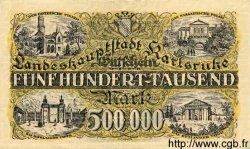 500000 Mark ALLEMAGNE Karlsruhe 1923 K.2582d TTB