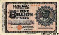 1 Billion Mark ALLEMAGNE Köln 1923 K.2684kk TB