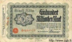 100 Milliarden Mark ALLEMAGNE  1924 K.2684bbb TB