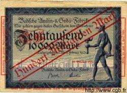 100 Milliarden Mark sur 10000 ALLEMAGNE  1923 K.3329g pr.TTB