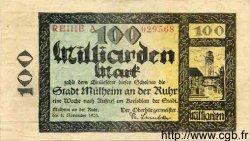 100 Milliards Mark ALLEMAGNE  1923  TTB