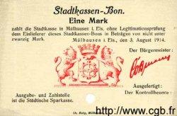 1 Mark ALLEMAGNE Mulhouse 1914 K.247a pr.NEUF