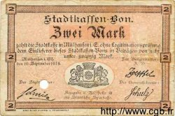 2 Mark ALLEMAGNE Mulhouse 1914 K.247a TB