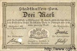 3 Mark ALLEMAGNE Mulhouse 1914 K.247a pr.NEUF