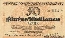 50 Millionen Mark ALLEMAGNE Pfalz 1923 K.4286b SUP