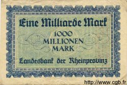 1 Milliarde Mark ALLEMAGNE  1923 Rpr.30a TB