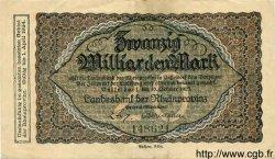 20 Milliarden Mark ALLEMAGNE  1923 Rpr.35b TTB+