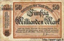 50 Milliarden Mark ALLEMAGNE Rheydt 1923 K.4561uQ B+