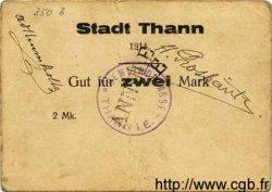 2 Mark ALLEMAGNE Thann 1914  TB à TTB
