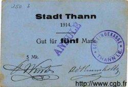 5 Mark ALLEMAGNE Thann 1914  TTB+