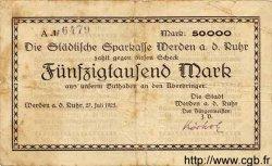 50000 Mark ALLEMAGNE Werden 1923 K.5551a TB