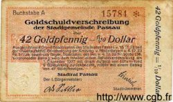 42 Goldpfennig = 1/10 Dollar ALLEMAGNE  1923 Bay.234 TB