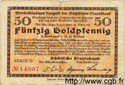 50 Goldpfennig ALLEMAGNE  1923 Sax.47 TB