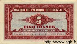 5 Francs AFRIQUE OCCIDENTALE FRANÇAISE (1895-1958)  1942 P.28a SUP+