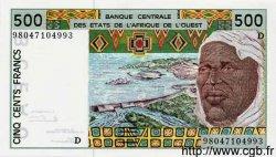 500 Francs MALI  1998 P.410Dh NEUF