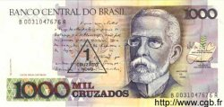 1 Cruzado Novo sur 1000 Cruzados BRÉSIL  1989 P.216b NEUF