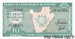 10 Francs BURUNDI  1991 P.33b NEUF