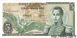 5 Pesos Oro COLOMBIE  1979 P.406f NEUF