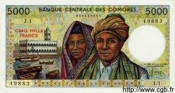 5000 Francs COMORES  1984 P.12 NEUF