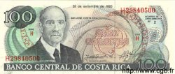 100 Colones COSTA RICA  1993 P.261a NEUF
